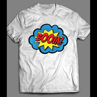 VINTAGE COLORFUL COMIC BOOK BOOM!! ACTION SHIRT - Old Skool Shirts