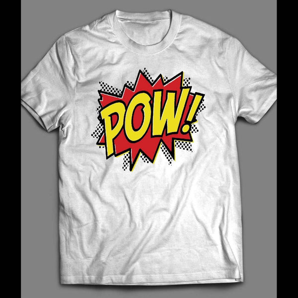 VINTAGE COLORFUL COMIC BOOK POW! SHIRT - Old Skool Shirts