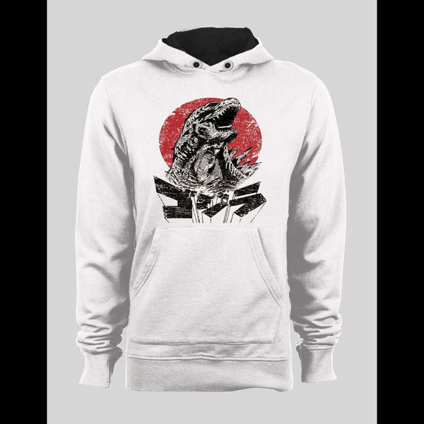 VINTAGE GODZILLA JAPANESE ART DESIGN HOODIE / SWEATER - Old Skool Shirts