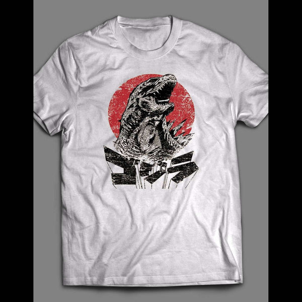 VINTAGE GODZILLA JAPANESE ART SHIRT - Old Skool Shirts