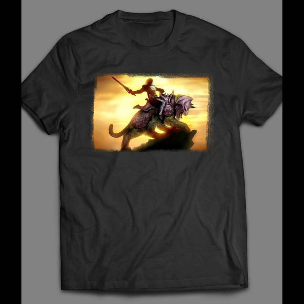 VINTAGE HE-MAN AND BATTLECAT CUSTOM ART T-SHIRT