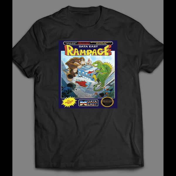 VINTAGE NINTENDO RAMPAGE GAME BOX ART SHIRT - Old Skool Shirts