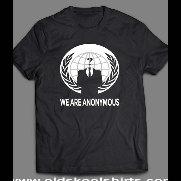 WE ARE ANONYMOUS HACKIVIST GROUP T-SHIRT