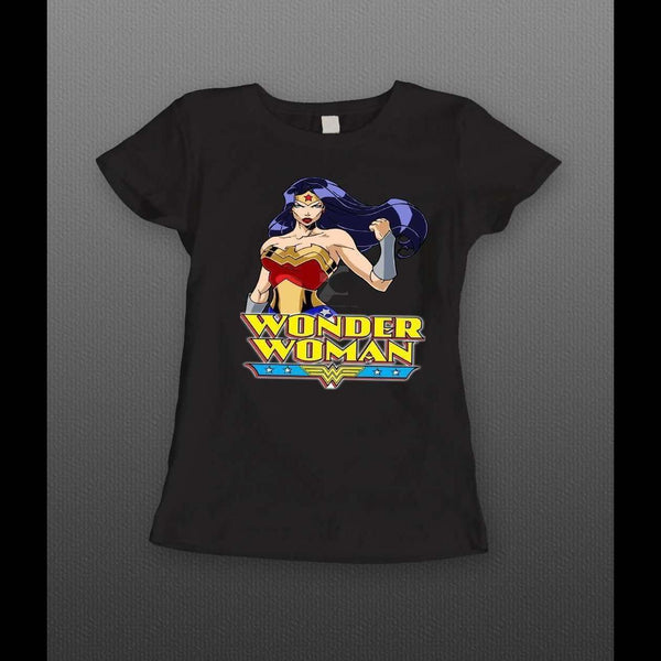 WONDER WOMAN SEXY CARTOON SHIRT - Old Skool Shirts
