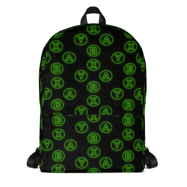 GAMING CONSOLE XYAB BUTTON ALL OVER PRINT BACKPACK