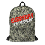 EVERYDAY I'M HUSTLIN' MONEY PATTERN ALL OVER PRINT BACKPACK