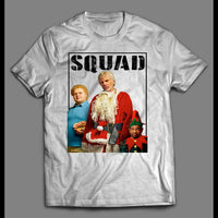 "FULL FRONT PRINT BAD SANTA ""SQUAD"" PARODY CHRISTMAS MOVIE SHIRT - Old Skool Shirts"