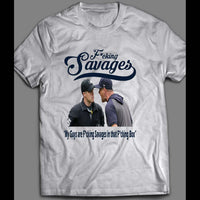 "NEW YORK BRONX AARON BOONE ""F*CKING SAVAGES"" BASEBALL SHIRT - Old Skool Shirts"