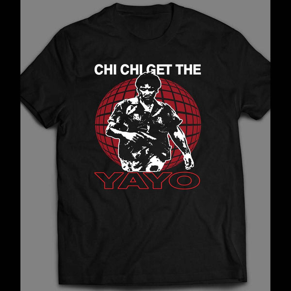 "SCARFACE X TONY MONTANA ""CHI CHI GET THE YAYO"" SHIRT - Old Skool Shirts"