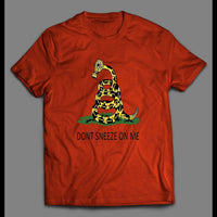 "CORONA VIRUS SNAKE ""DON'T SNEEZE ON ME"" SHIRT - Old Skool Shirts"