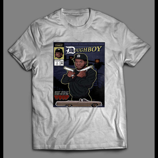 BOYZ N THE HOOD DOUGHBOY COMICS COVER ART SHIRT - Old Skool Shirts