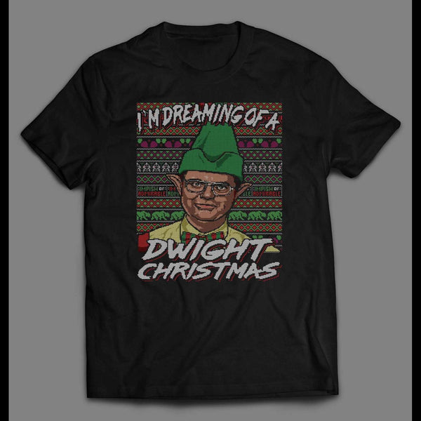 THE OFFICE DREAMING OF A DWIGHT CHRISTMAS FULL FRONT PRINT T-SHIRT