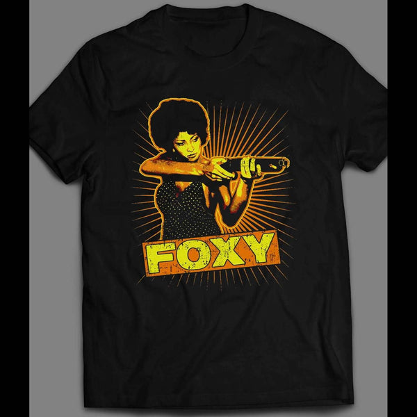 VINTAGE PAM GRIER FOXY BROWN SHIRT - Old Skool Shirts