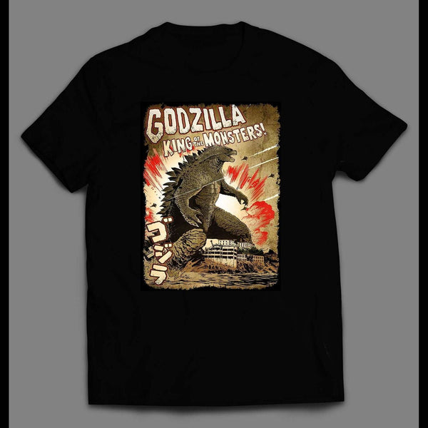 YOUTH SIZE KING OF MONSTERS GODZILLA MOVIE COMIC CUSTOM SHIRT - Old Skool Shirts
