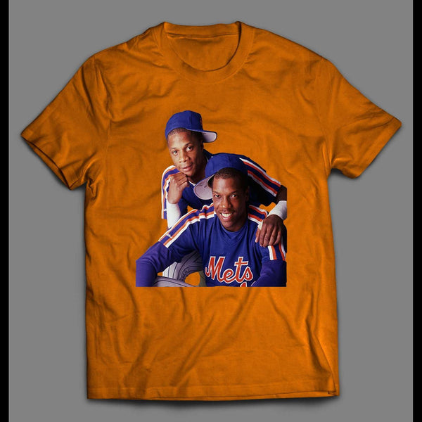 BASEBALL THROWBACK CLASSIC DARRYL STRAWBERRY AND DWIGHT GOODEN T-SHIRT - Old Skool Shirts