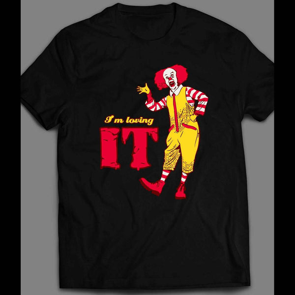 "PENNYWISE MCDONALDS PARODY ""I'M LOVING IT"" HALLOWEEN T-SHIRT"