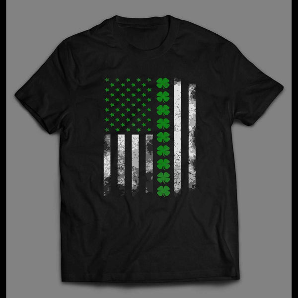 IRISH-AMERICAN MASH UP FLAG ST. PATTY'S DAY SHIRT - Old Skool Shirts