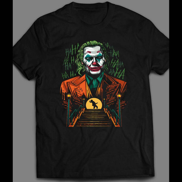 "CUSTOM JOAQUIN PHOENIX ""THE JOKER"" ULTRA RARE MOVIE T-SHIRT - Old Skool Shirts"