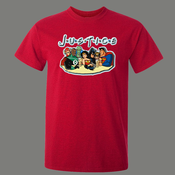 JUSTICE LEAGUE FRIENDS PARODY SUPER ARTWORK SHIRT* MANY COLORS FREE SHIPPING