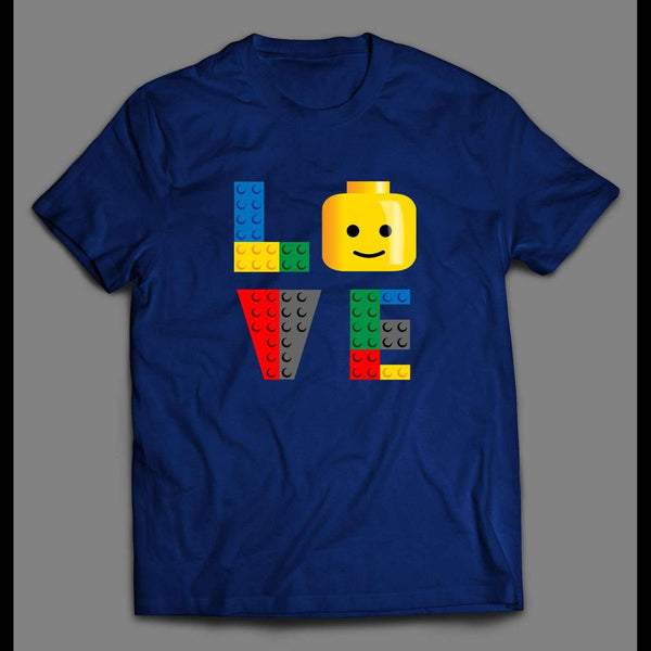 "LEGO BLOCKS ""LOVE"" CARTOON SHIRT - Old Skool Shirts"