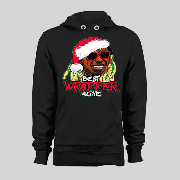 LIL WAYNE BEST WRAPPER ALIVE PARODY CHRISTMAS HOODIE /SWEATER