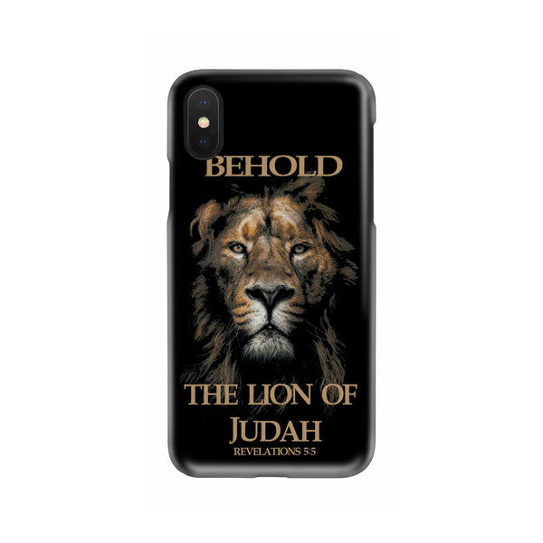 BEHOLD THE LION OF JUDAH CUSTOM PRINTED CELL PHONE CASE FOR IPHONES AND SAMSUNG GALAXY