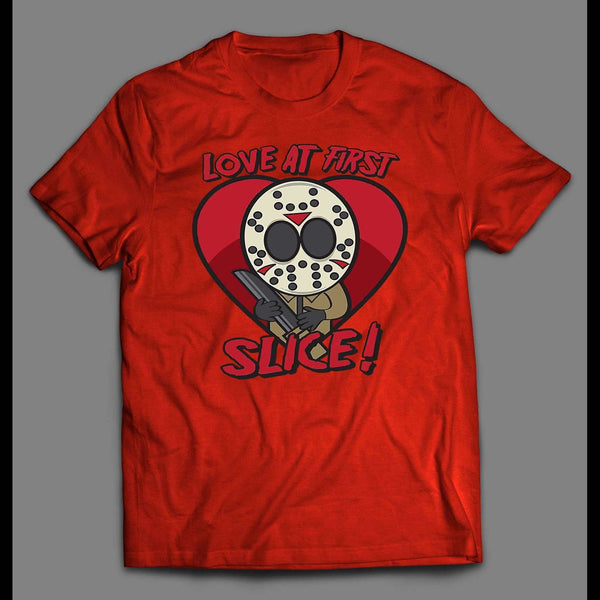 LOVE AT FIRST SLICE VALENTINE'S DAY SHIRT - Old Skool Shirts