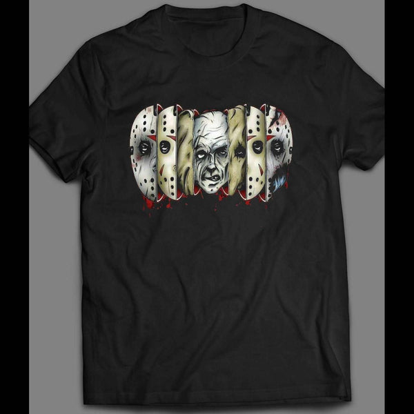 FRIDAY THE 13TH MANY FACES JASON HALLOWEEN SHIRT - Old Skool Shirts