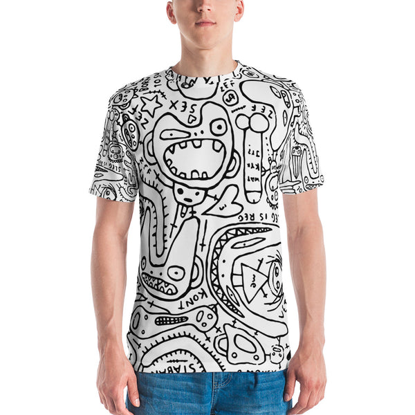 MUSIC BAND INSPIRED ALL OVER PRINT DOODLE SHIRT