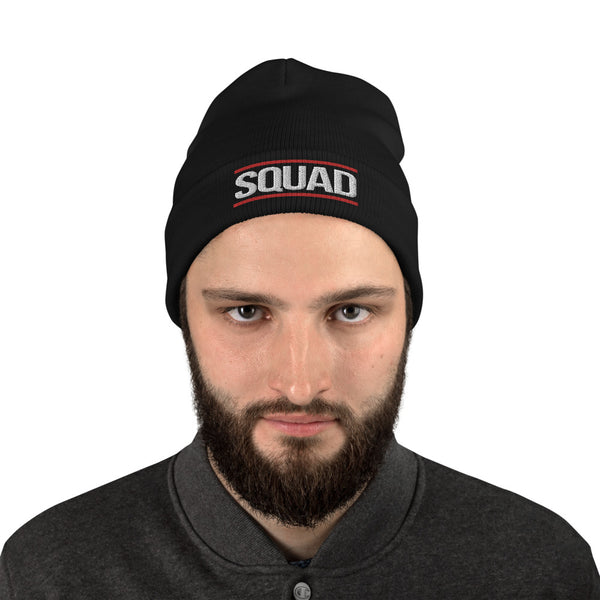 "DMC STYLE ""SQUAD"" EMBROIDERED BEANIE"