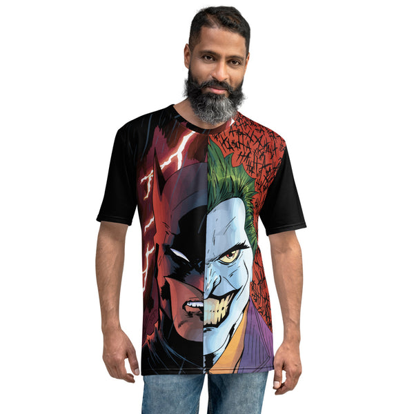 HERO AND THE VILLAIN MENS ALL OVER PRINT SHIRT