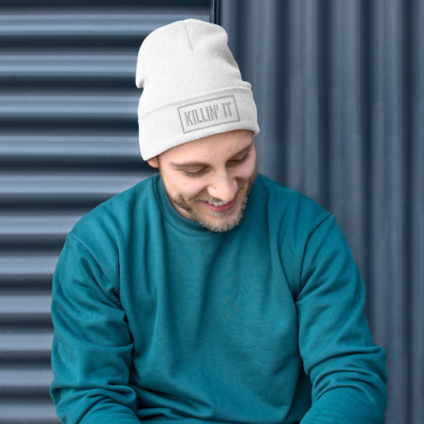 KILLIN' IT EMBROIDERED BEANIE