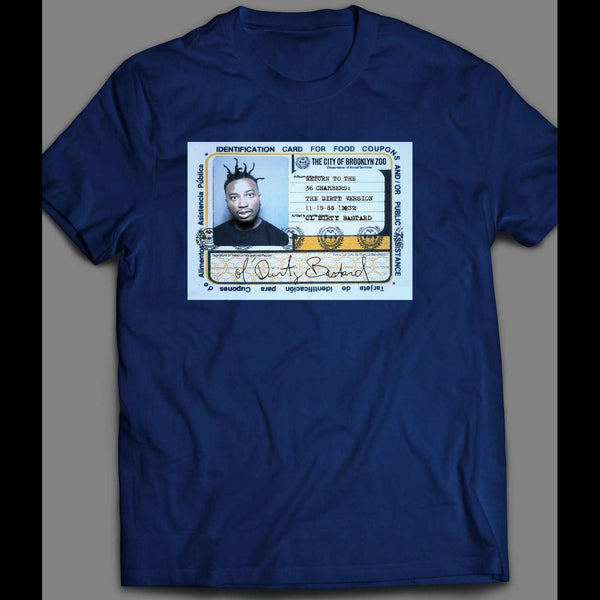 OL' DIRTY BASTARD (ODB) FOOD STAMP CARD T-SHIRT - Old Skool Shirts
