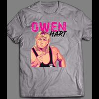 OWEN HART INSPIRED CUSTOM ART WRESTLING T-SHIRT