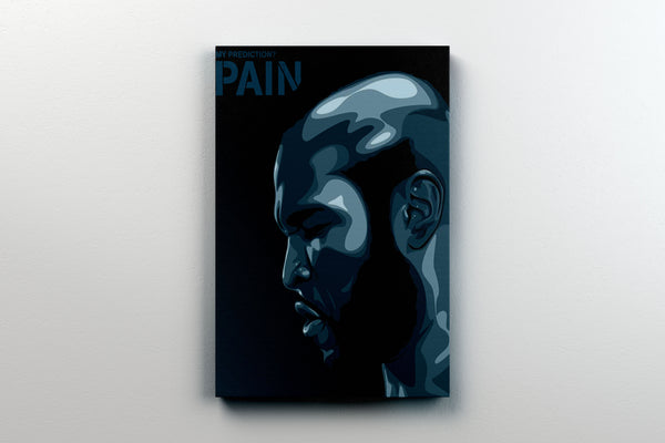 "ROCKY 3 CLUBBER LANG PREDICTION PAIN CUSTOM PRINT ON 11"" X 14"" CANVAS - Old Skool Shirts"