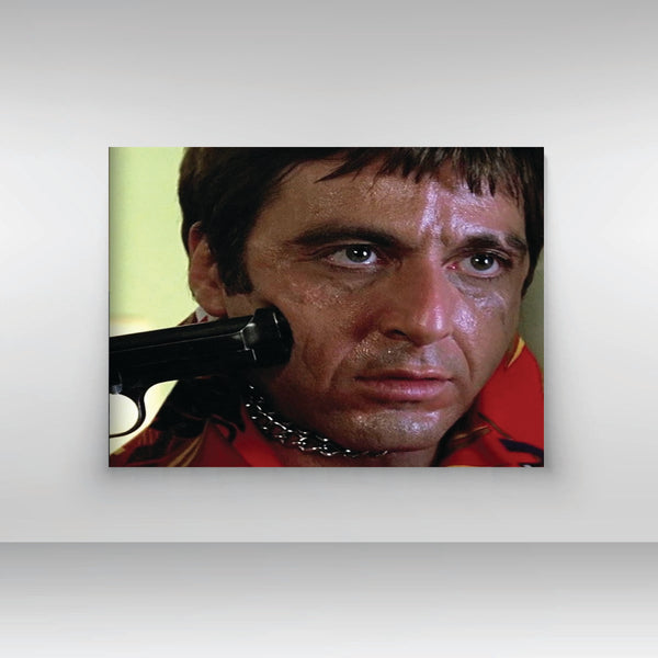 "SCARFACE BATHROOM SCENE LANDSCAPE PRINT ON 11"" X 14"" CANVAS - Old Skool Shirts"