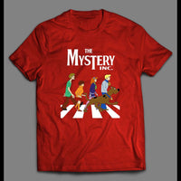 THE MYSTERY INC SCOOBY DOO ABBEY ROAD PARODY SHIRT - Old Skool Shirts