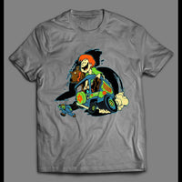 SHAGGY AND SCOOBY MYSTERY MACHINE 1980s CARTOON OLDSKOOL SHIRT