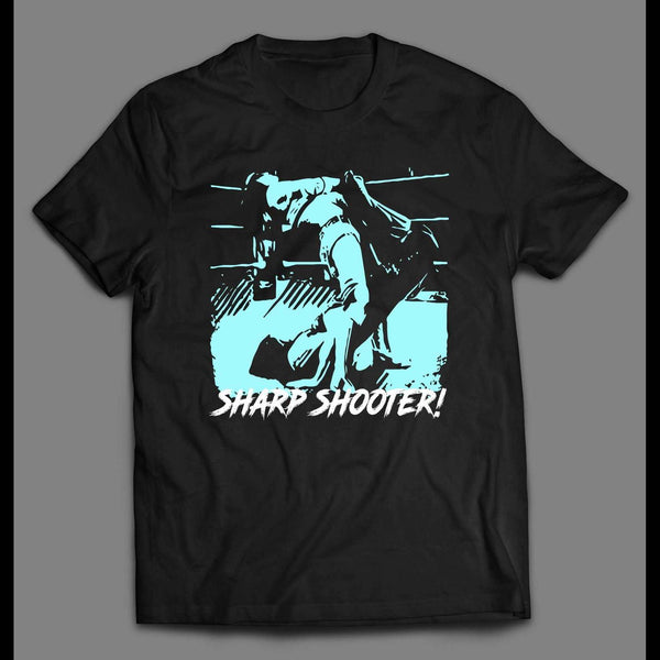 PRO WRESTLING HITMAN SHARP SHOOTER SHIRT - Old Skool Shirts