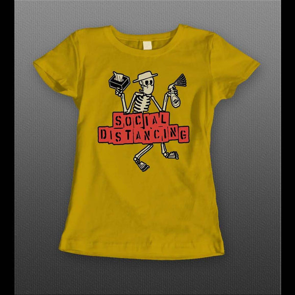 LADIES SOCIAL DISTANCING SKELETON SHIRT