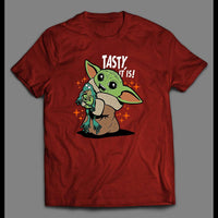"STAR BABY ALIEN ""TASTY IT IS!"" MOVIE SHIRT - Old Skool Shirts"