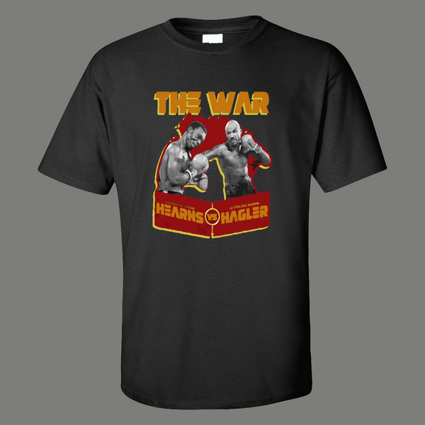 THE WAR BOXING FIGHT FOR THE AGES HAGLER V HEARNS ART Mens Shirt
