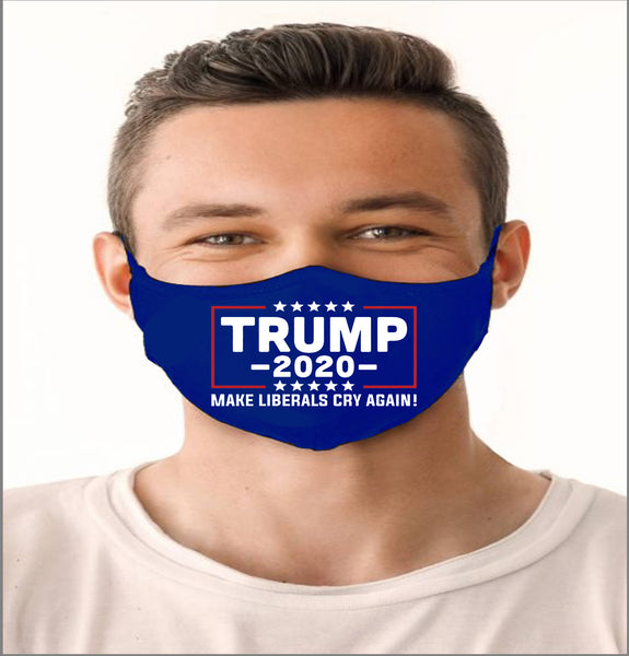 TRUMP 2020 PARODY HANDMADE, WASHABLE, REUSABLE HIGH QUALITY FACE MASK