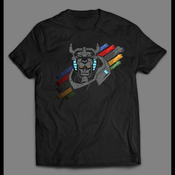 VOLTRON LIONS UNITE DEFENDER OF THE UNIVERSE CUSTOM ART SHIRT - Old Skool Shirts