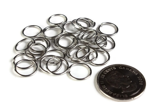 12mm stainless steel jumprings - 12mm open jumpring - 12mm round jumprings - 12mm stainless steel jump ring - 30 pieces (1997)