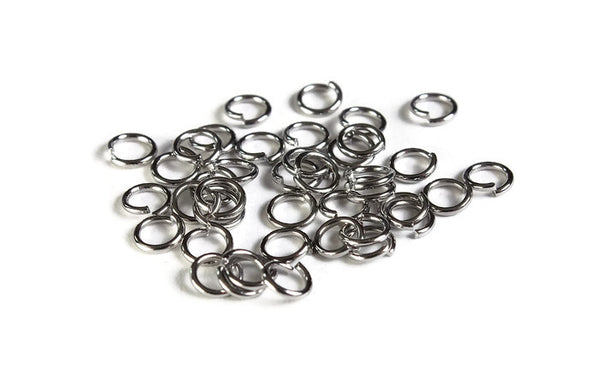 5mm Petite stainless steel jumprings - 5mm open jumpring - 5mm round jumprings - 40 pieces (1998)