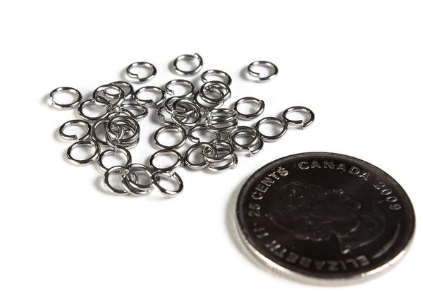 5mm Petite stainless steel jumprings - 5mm open jumpring - 304 stainless steel - 5mm round jumprings - 40 pieces (1998)