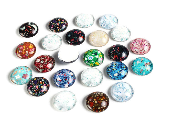 12mm Flower Plants cabochons