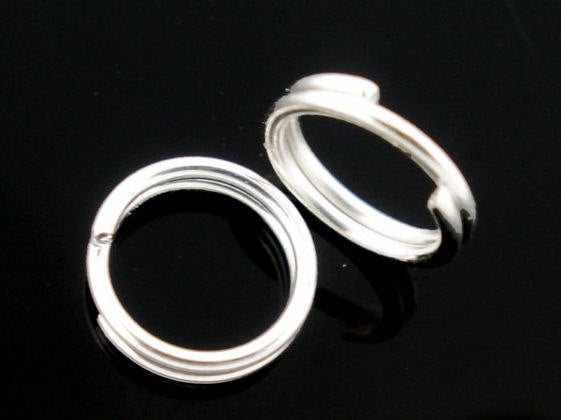 6mm Silver color double loop jumpring round - Unsoldered jump rings - Silver Color Jump Rings - Alloy Jumprings - 50 pieces (1641)