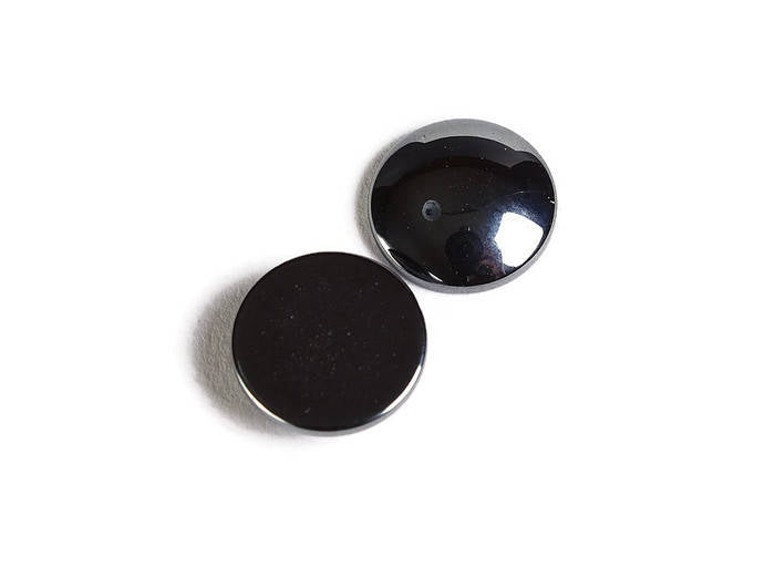10mm Hematite cabochon - round cabochons - gray cabochons - Non-Magnetic Synthetic Hematite Cabochons - 5 pieces (1826)